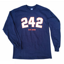 "Load image into Gallery viewer, 242 ""Varsity"" Longsleeve // Navy/White/Red"