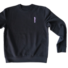 "Load image into Gallery viewer, West x 242 Tattoo ""Panther"" Crewneck // Black"