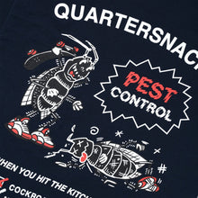 "Load image into Gallery viewer, Quartersnacks ""Pest Control"" Tee // Navy"