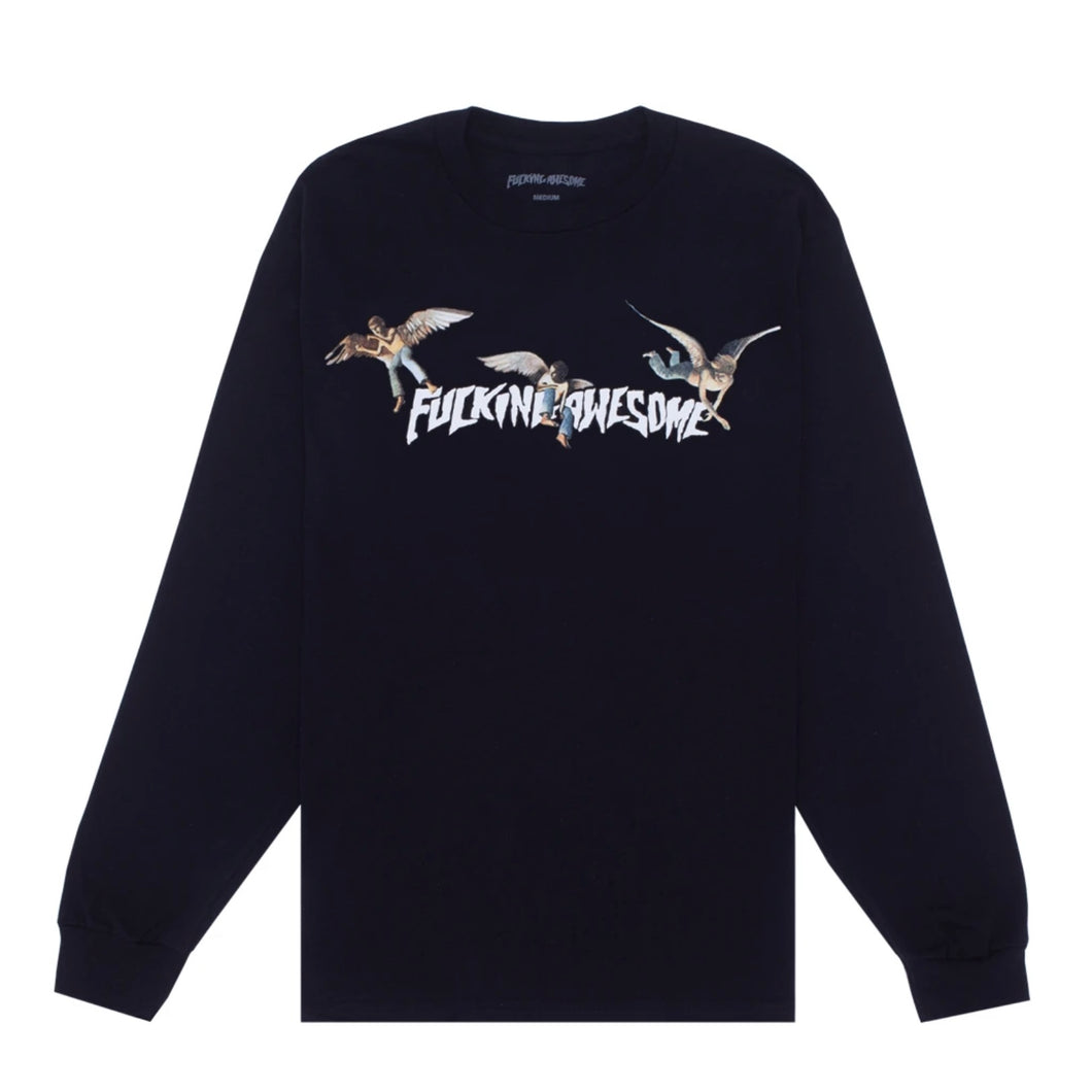 "Fucking Awesome ""Angel Stamp L/S Tee"" // Black"