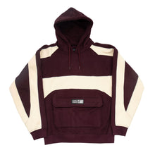 "Load image into Gallery viewer, Bronze 56K ""Piping"" Hoody // Burgundy"