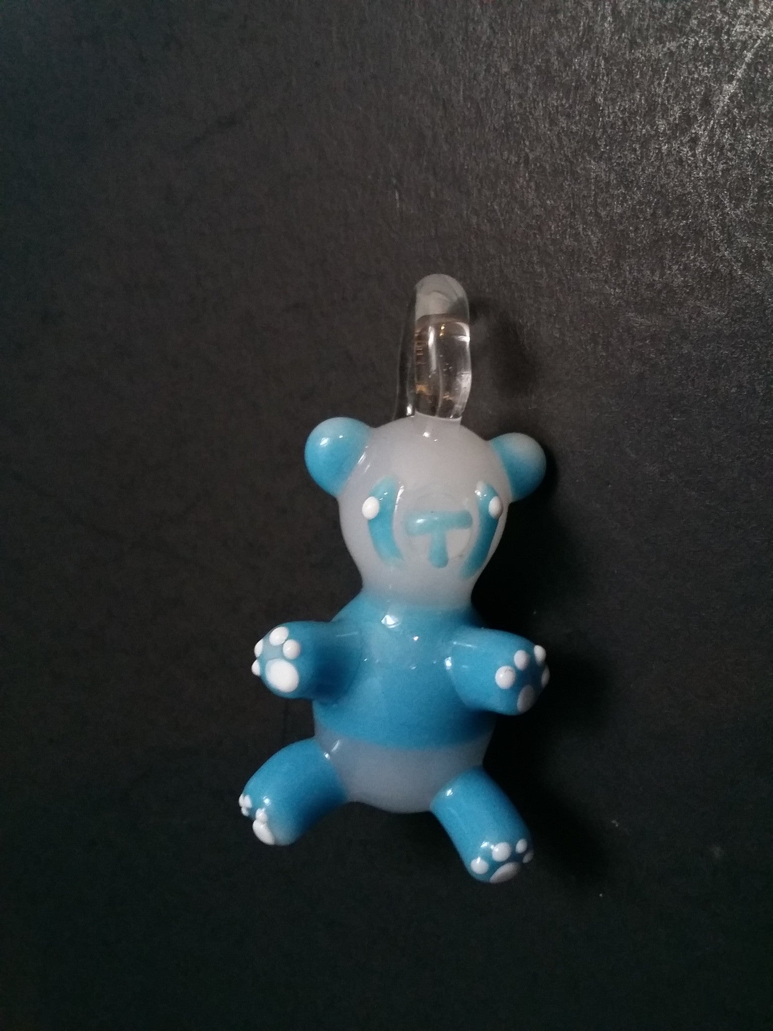 Sculpted Candy Panda Bear Pendant by Nykki Knight - www.PremiumGlassPipes.com