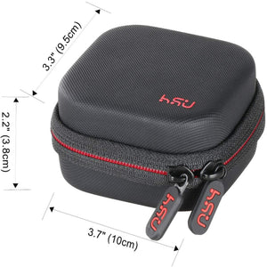 HSU Portable Mini Carrying Case for DJI OSMO Action Camera, Hard Shell Protective Case Travel Portable Storage Bag Fits with Selfie Stick Pole Monopod Accessories