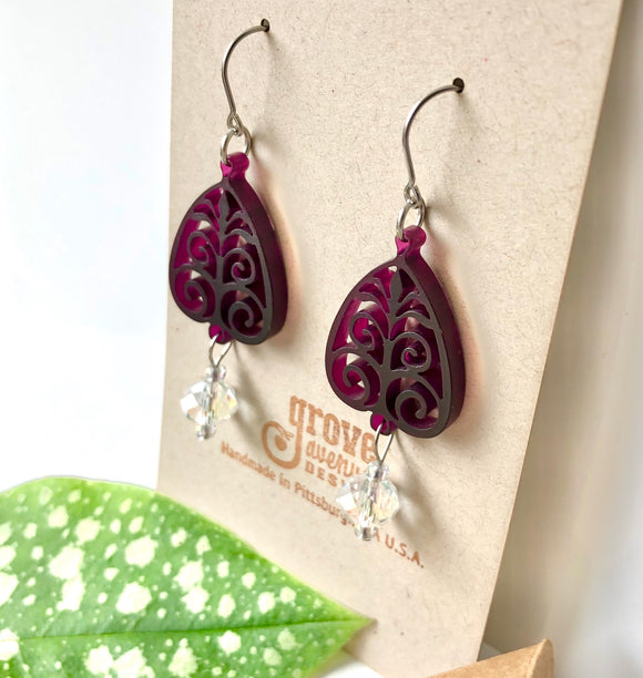 Charleston Gate Acrylic Earrings