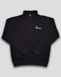 SWALLOW HALF-ZIP SWEATER BLACK