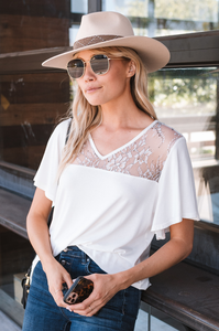 Fallbrook Flutter Sleeve Top