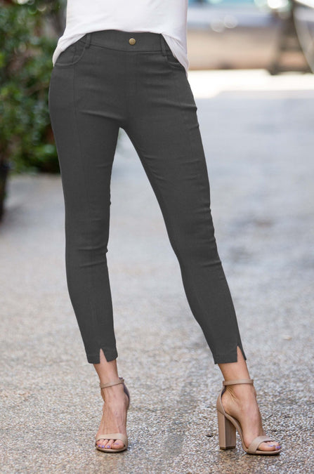 Front Slit Jeggings - Amaryllis Land