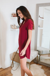 Crepe Shift Dress - Amaryllis Land