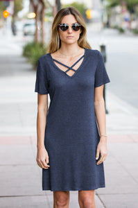 Criss Cross Tee Dress - Amaryllis Land