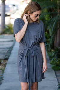 Tie-Front Tee Dress - Amaryllis Land