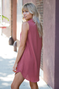 Sleeveless Shift Dress - Amaryllis Land