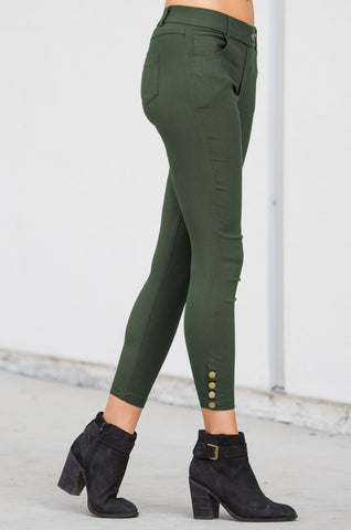 Button Hem Jegging - Amaryllis Land