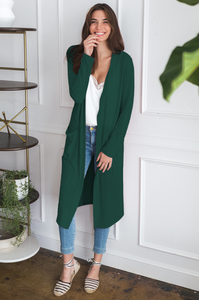 Abby Longline Cardigan (fall colors) - Amaryllis Land