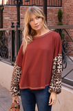 All The Wild Leopard Blouson Top - Amaryllis Land