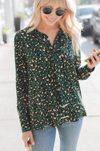 Wild One Tie-Neck Blouse