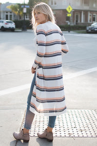 Hazel Striped Cardigan - Amaryllis Land