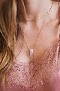 Layered Quartz Necklace - Amaryllis Land