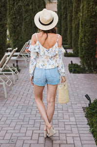 Audrey Cold-Shoulder Blouse - Amaryllis Land