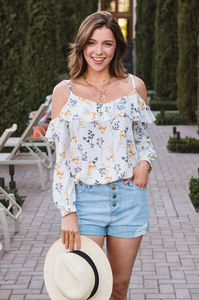 Audrey Cold-Shoulder Blouse