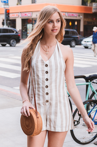 Emma Striped Romper - Amaryllis Land