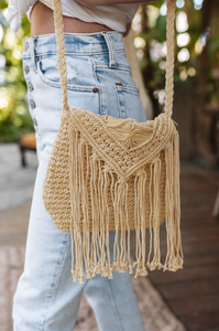 Amber Crochet Crossbody Bag