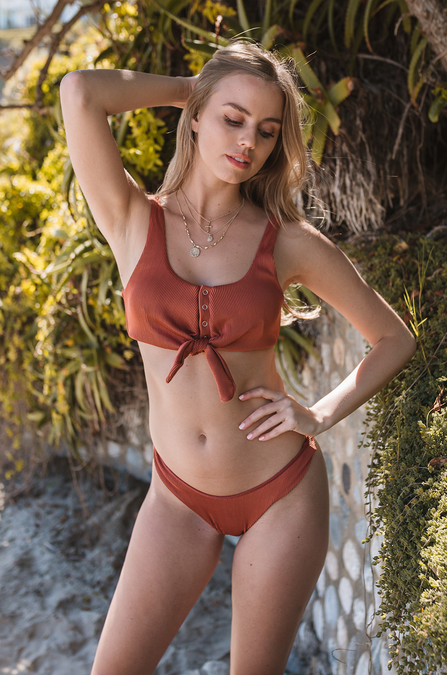 Not So Basic Henley Bikini - Amaryllis Land