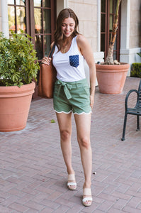 Paige Scallop Shorts (all colors) - Amaryllis Land