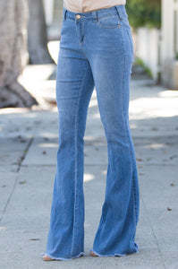 Delaney Bell Bottom Denim - Amaryllis Land