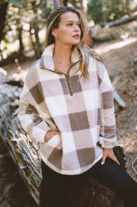 Checked Out Woobie Pullover