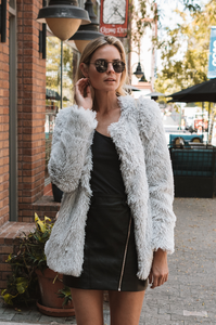 Sofia Fur Jacket - Amaryllis Land