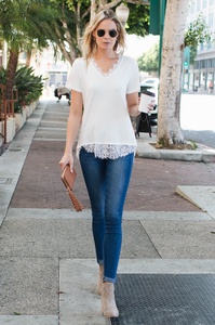 Morgan Lace Tee - Amaryllis Land