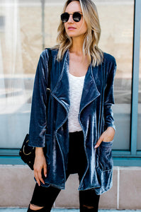 Draped in Velvet Cardigan