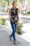 'Full Bloom' Sleeveless Floral Top - Amaryllis Land