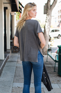 Relaxed Scoop Neck Tee - Amaryllis Land