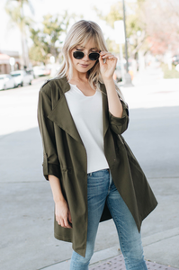 Bailey Draped Trench
