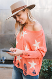 Distressed Starry Eyed Sweater - Amaryllis Land
