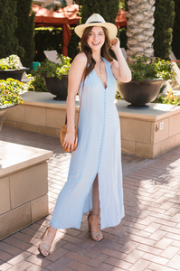 Lauren Button Maxi Dress - Amaryllis Land