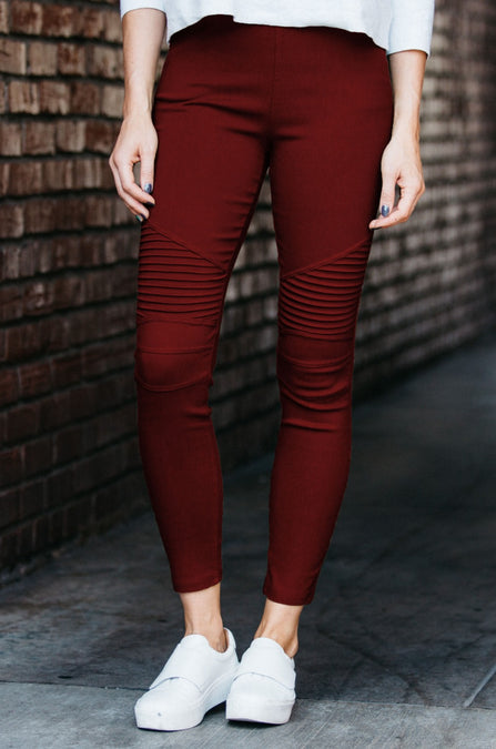 Stretch Moto Jeggings - Amaryllis Land