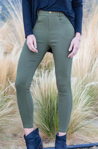 Elastic Stretch Jeggings (Plus) - Amaryllis Land