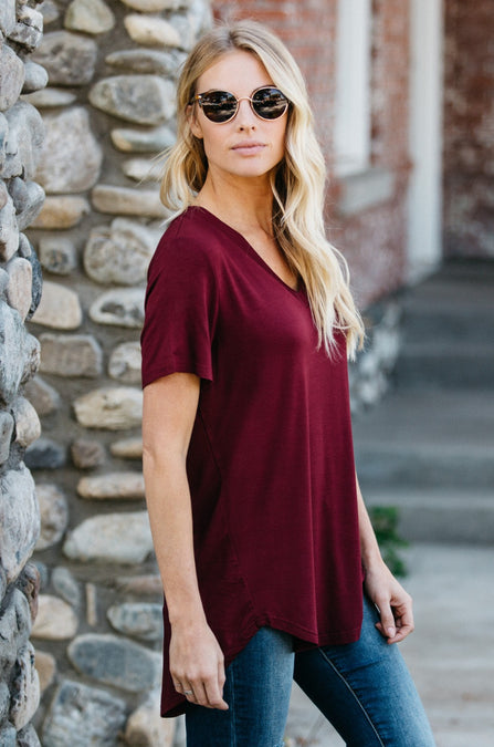 Loose Cut Casual Short Sleeve Top - Amaryllis Land