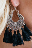Boho Carving Tassel Earrings - Amaryllis Land