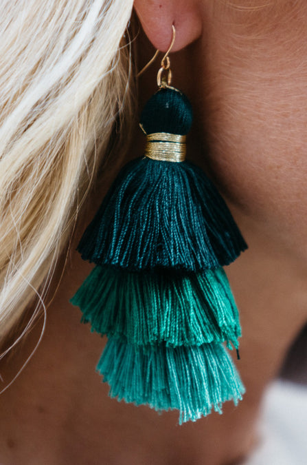 Three Tiered Tassel Earrings