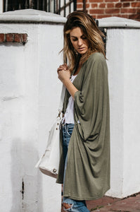 100% Cotton Long Soft Cardigan - Amaryllis Land