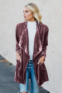 Draped in Velvet Cardigan - Amaryllis Land