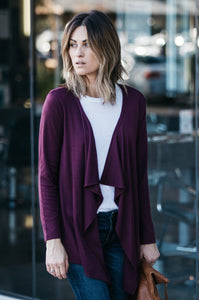 Draped Cardigan - Amaryllis Land