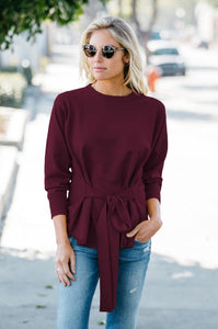 Tie-Front Sweater