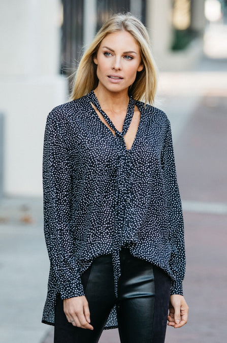 Take a Bow Dotted Blouse