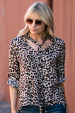 Leopard Tie-Neck Top - Amaryllis Land