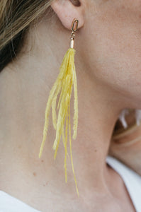 Feather Statement Earrings - Amaryllis Land