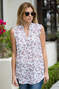 'Full Bloom' Sleeveless Floral Top